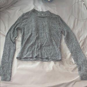 Grey long sleeve, SMALL turtleneck